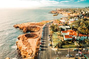 Aerial Coastal Road