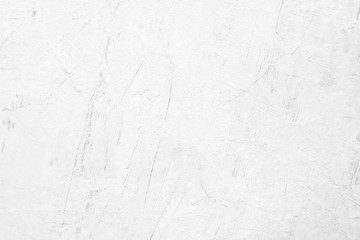 Fotobehang - White concrete stone paint wall background, Grunge cement paint texture backdrop, White rough concrete stone wall background, Copy space for interior design background, banner, wallpaper