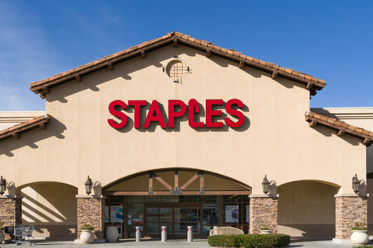 Staples Office Supply Store Sign and Logo
