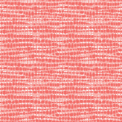 Vector coral pink seamless fabric texture. Canvas for embroidery. Suitable for textile, gift wrap and wallpaper.