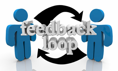 Feedback Loop People Talking Sharing Opinions 3d Illustration