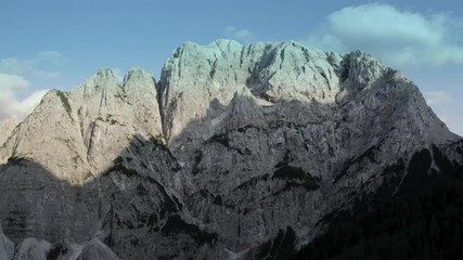 Wall Mural -  The Julian Alps in Slovenia.  Aerial Footage of the Front Window on Mount Prisojnik.