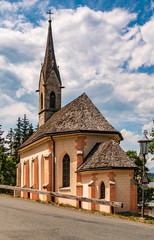 Beautiful church at Aurach near Kitzbühel, Tyrol, Austria