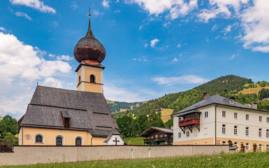 Beautiful church near Kitzbühel, Tyrol, Austria
