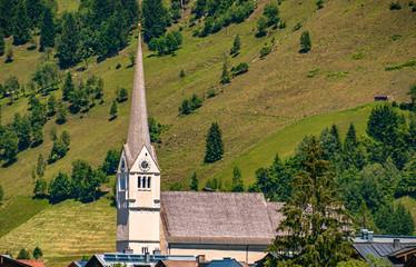 Beautiful church at Rauris, Salzburg, Austria