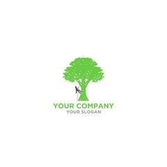 Arborist Tree Service Logo Design Vector