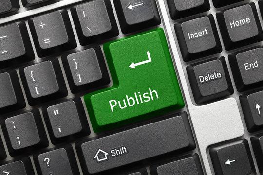Conceptual keyboard - Publish (green key)