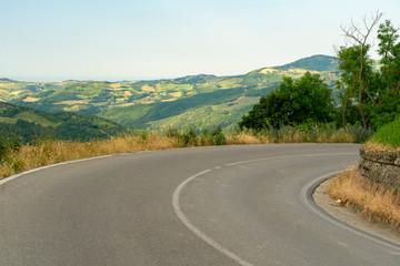 Landscape of Passo del Cerro at springtime