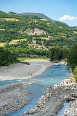 Trebbia river from the bridge of Bobbio