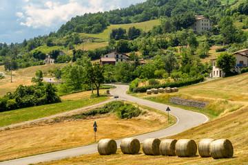 Springtime landscape near ìBardi, Parma