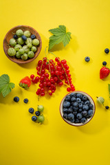 Yellow summer berry background