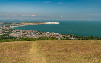 Shanklin and Sandown from Shanklin Down, Isle of Wight