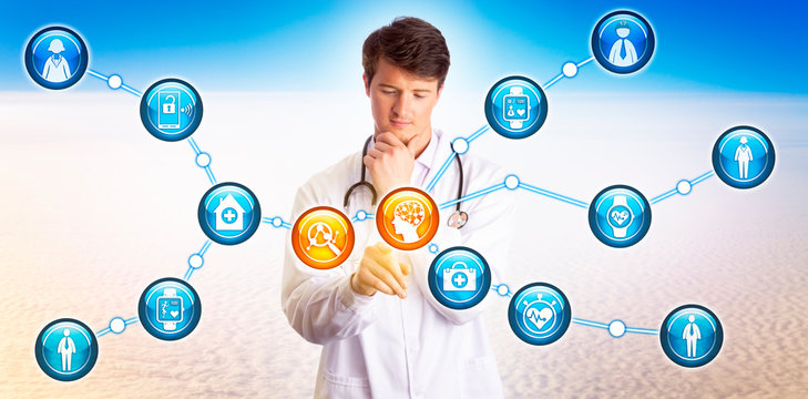 Young Doctor Using AI To Analyze Wearables Data
