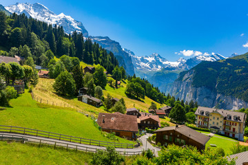 Mountain village Wengen, Switzerland