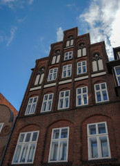 Facade of an old house in Lueneburg, Germany