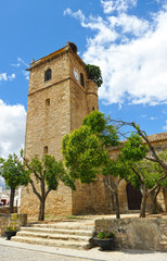 San Martin de Tours church in Aldea del Cano, a village in Way to Santiago (Via de la Plata) at province of Caceres Extremadura Spain