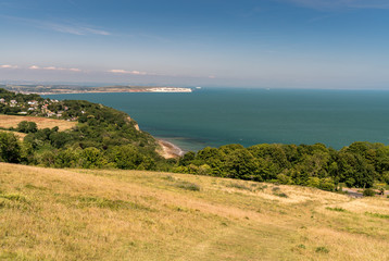 Luccombe, and Sandown Bay Isle of Wight, from Nansen Hill