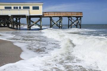 Atlantic waves / Edisto Island Beach in South Carolina