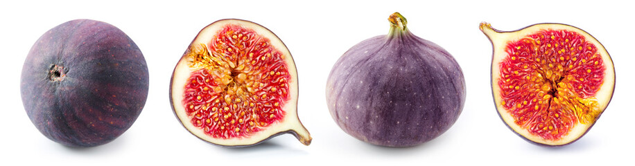 Figs slice isolated on white