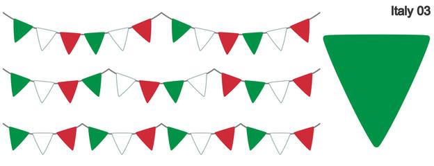 イタリアの国旗のガーラーンド ベクターデータ(bunting garland)