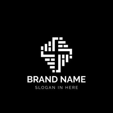 Brick Church logo icon design illustration