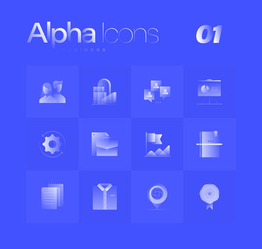 Business Theme Alpha Icons Set