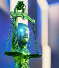 Corruption of Justice Sytem - 3d rendering