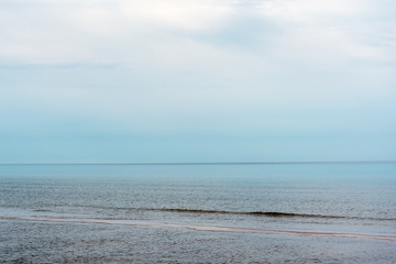 Fototapete - Blue and still Baltic sea.