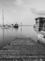 Long exposure photography from the West Cowes docks, in front of the Royal Yacht Squadron