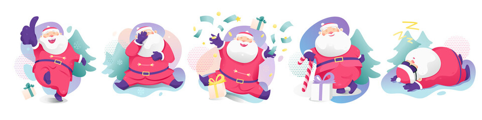 Santa Claus Sticker Set