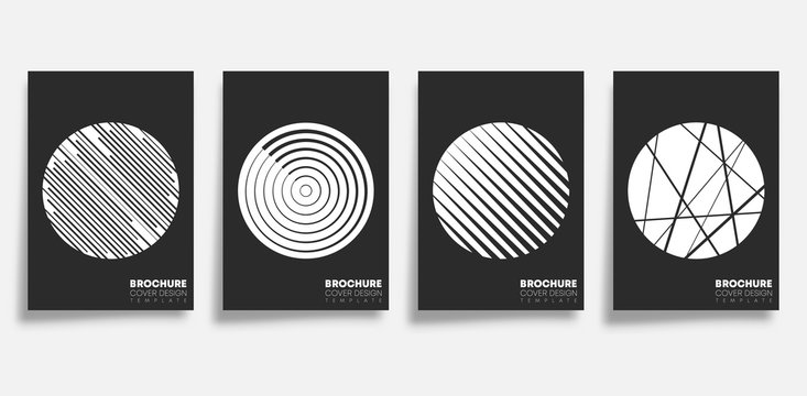 Background with abstract geometric shapes set. Design for flyer, poster, brochure cover, typography or other printing products