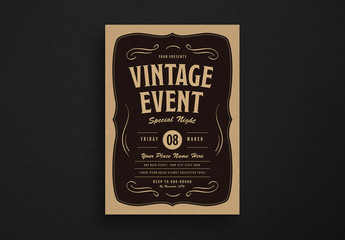 Vintage Event Flyer Layout