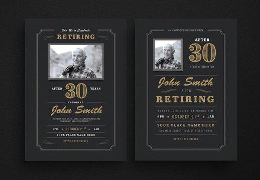 Retiring Invitation Layout