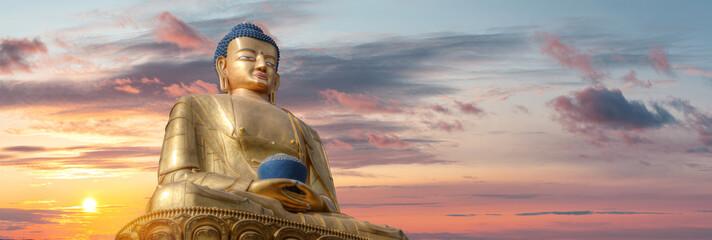 Photo sur Plexiglas Buddha Golden Buddha