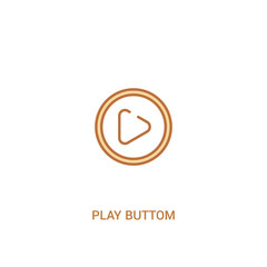 play buttom concept 2 colored icon. simple line element illustration. outline brown play buttom symbol. can be used for web and mobile ui/ux.
