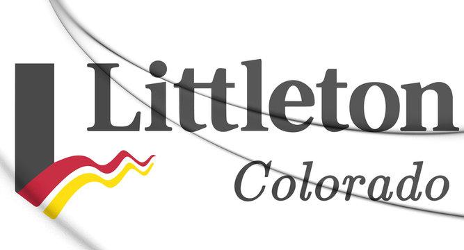 3D Emblem of Littleton (Colorado), USA. 3D Illustration.