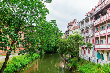 arm of the river Regnitz in Bamberg, Germany
