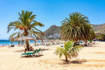 Teresitas beach near Santa Cruz, Tenerife, Canary islands, Spain