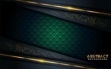 luxurious dark background with golden line.