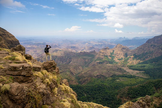 Beautiful landscape in Simien Mountains National Park, Ethiopia