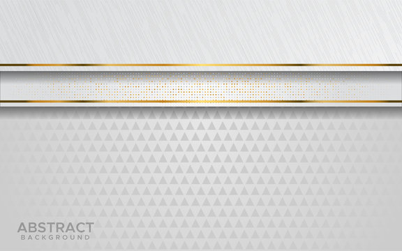 luxurious modern abstract white with golden lines background.