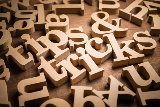 Tips and Tricks Wood Words
