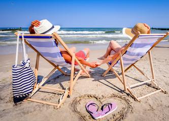Fototapeta Wakacje na plaży nad morzem, Urlop nad morzem obraz