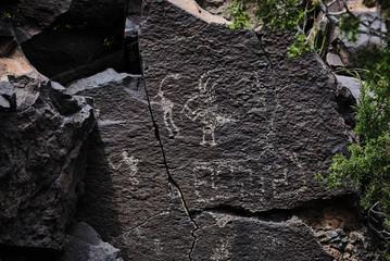 la cieneguilla petroglyphs with kokopelli