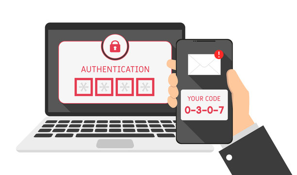 devices laptop and phone, SMS authentication code