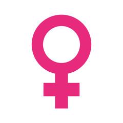 female gender symbol pop art style