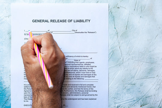 Filling General Release of Liability form