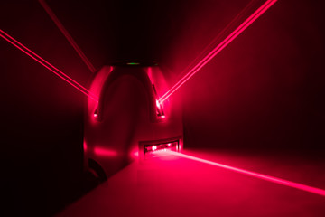 laser level tool red light beams