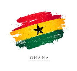 Ghana flag. Vector illustration on a white background.