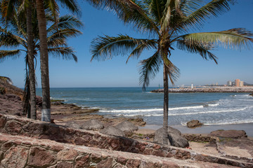 Mazatlan Mexico coast and beach